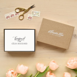 Bonjour Personalized Stationery