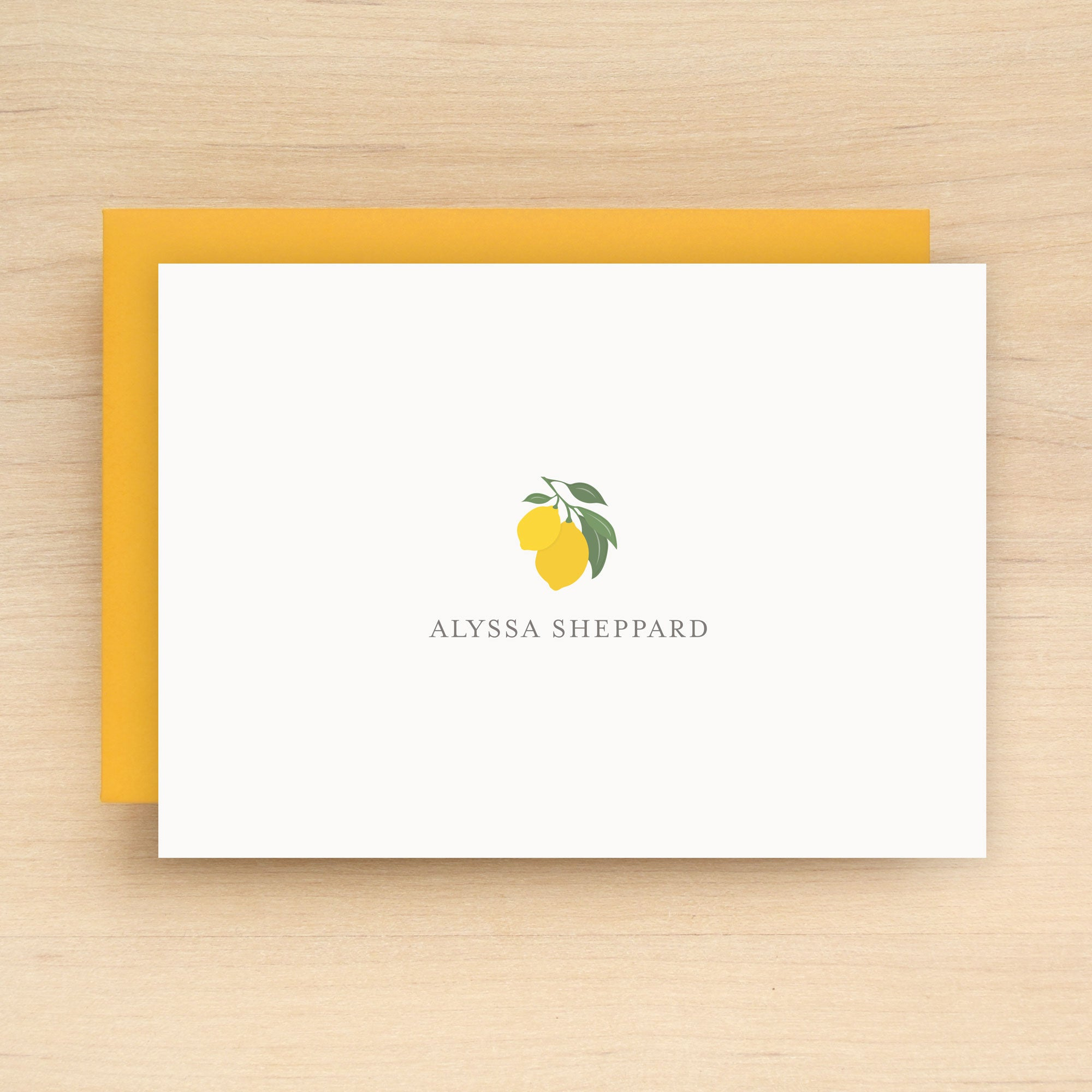 Citron Personalized Stationery