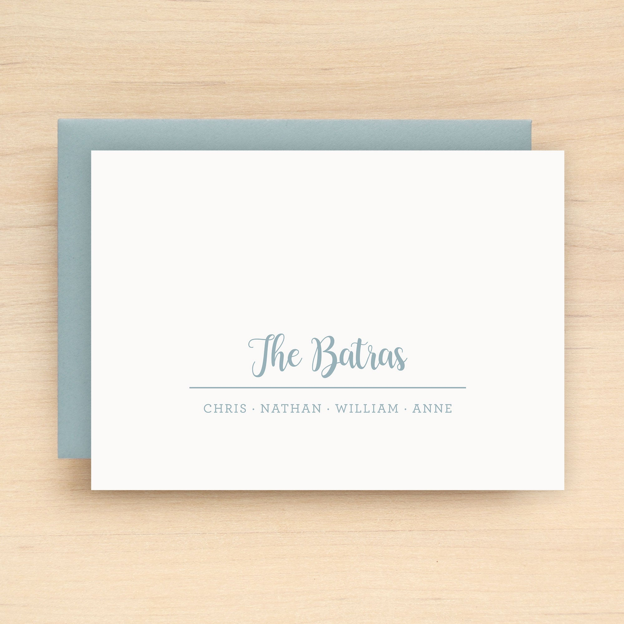 Club Family Personalized Stationery Set