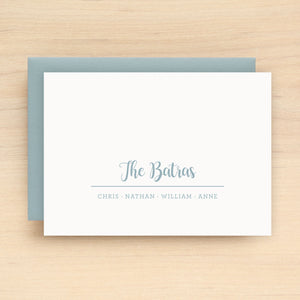 Club Family Personalized Stationery