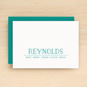 Crew Family Personalized Stationery