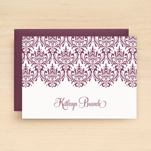 Damask Personalized Stationery