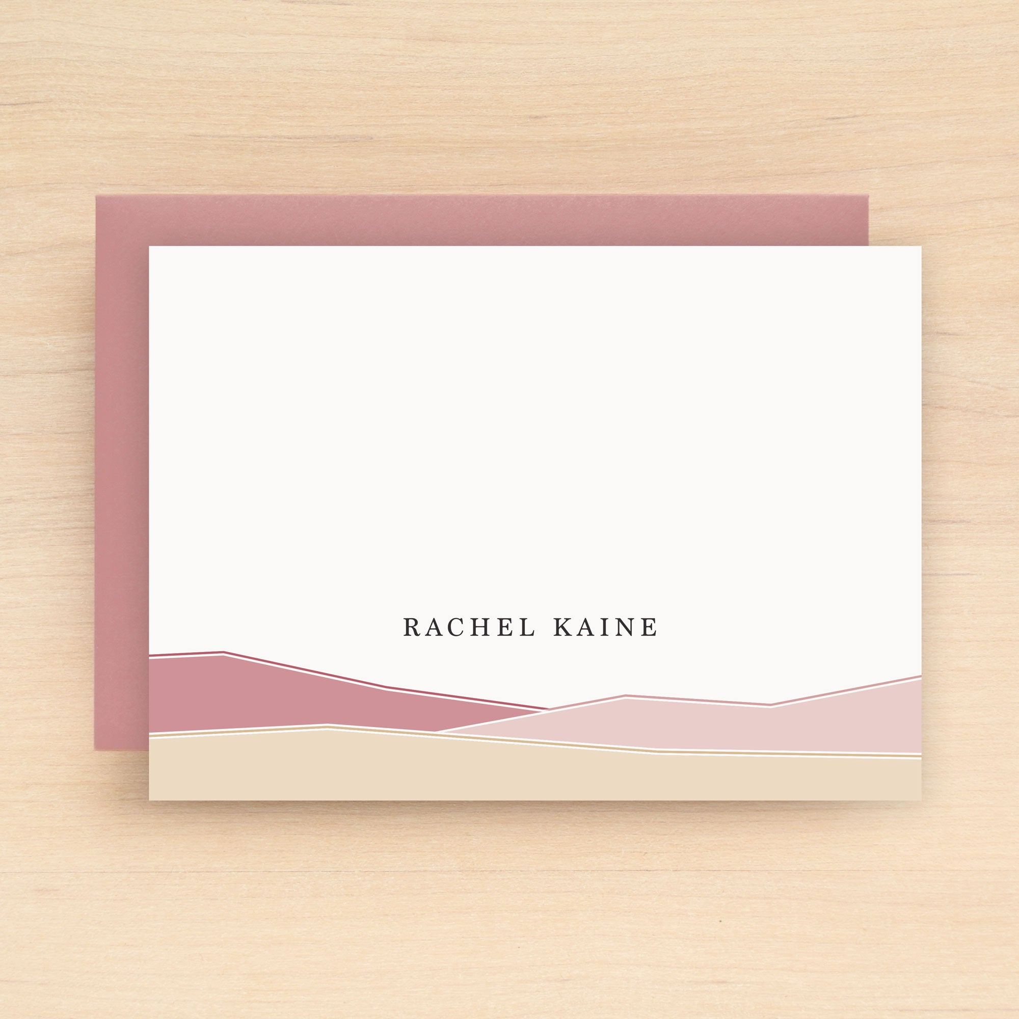 Desert Personalized Stationery