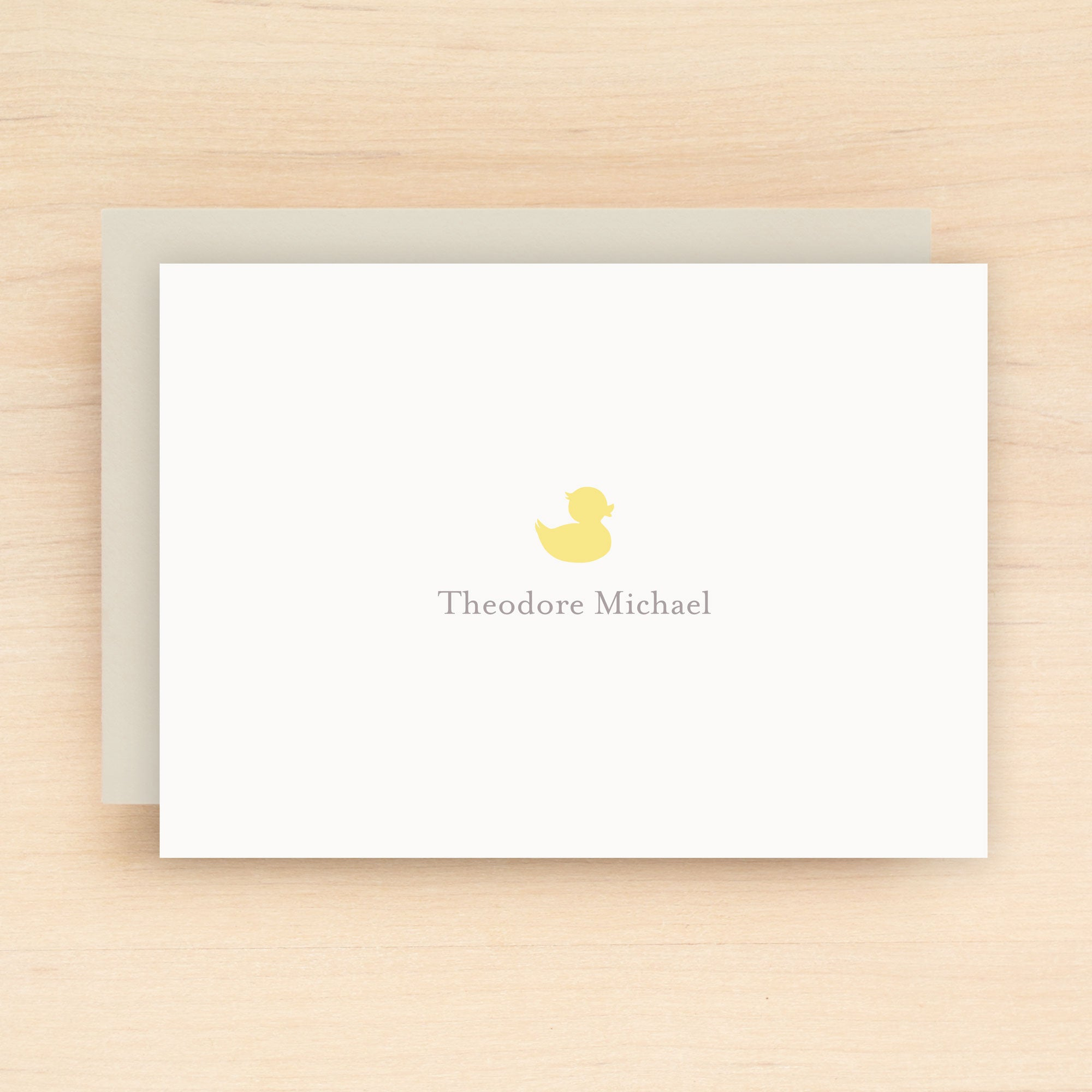 Duckie Personalized Stationery Set