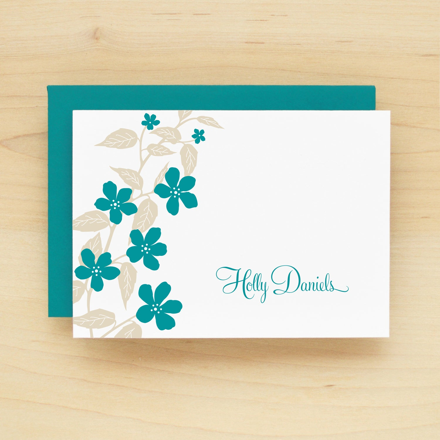 Flora Personalized Stationery Set