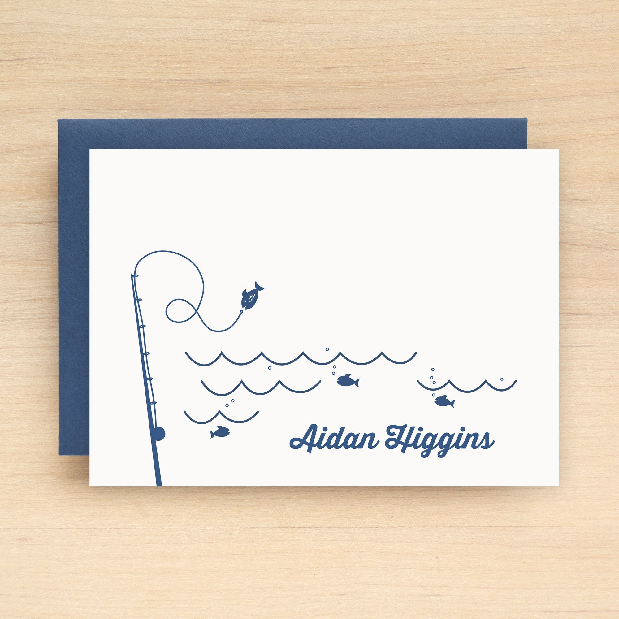 Go Fish Personalized Stationery