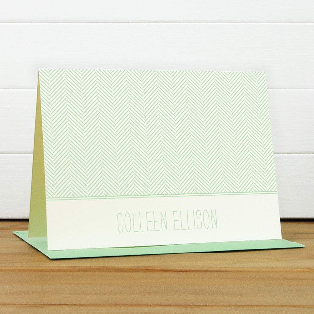 Herringbone Personalized Stationery