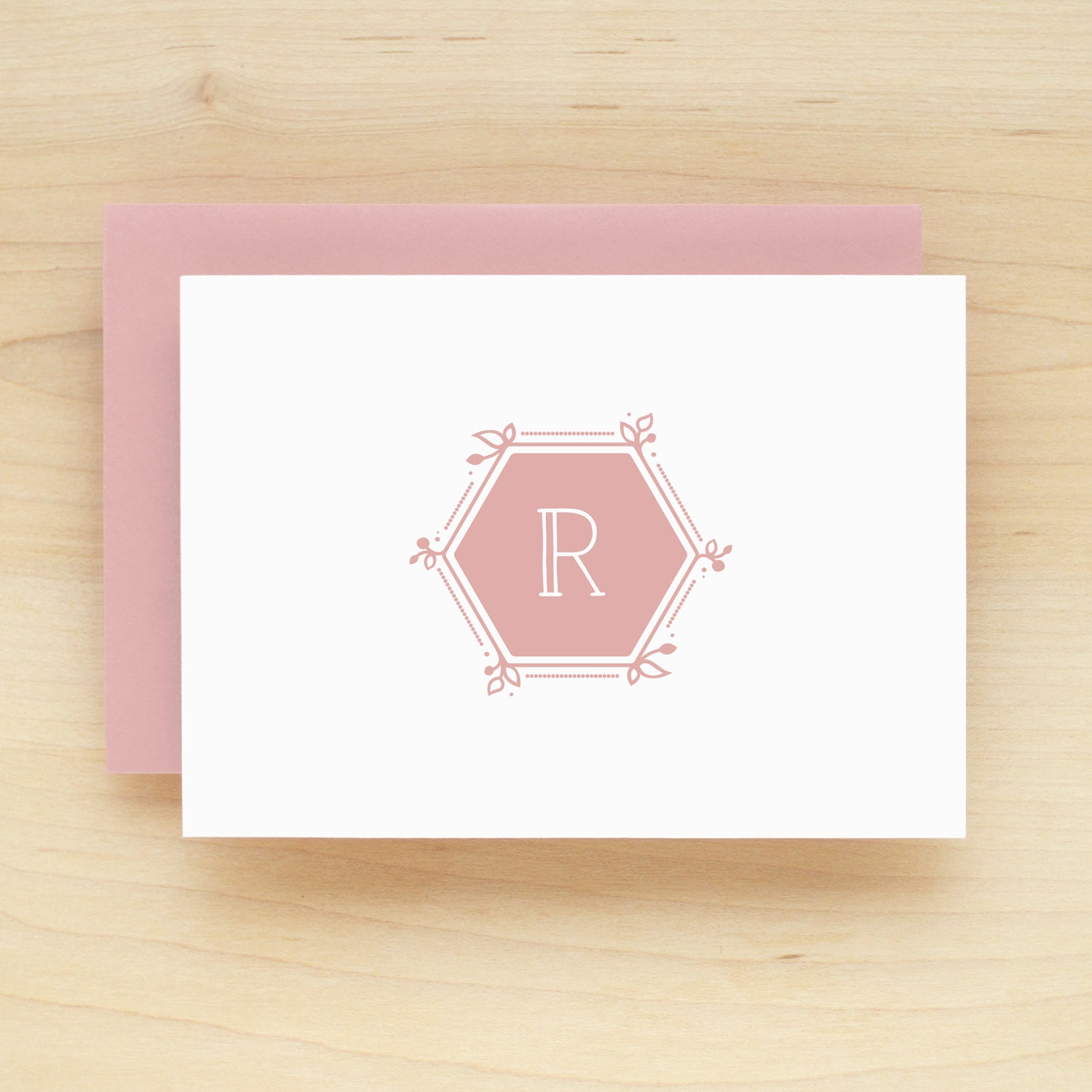Hexagon Personalized Stationery Set