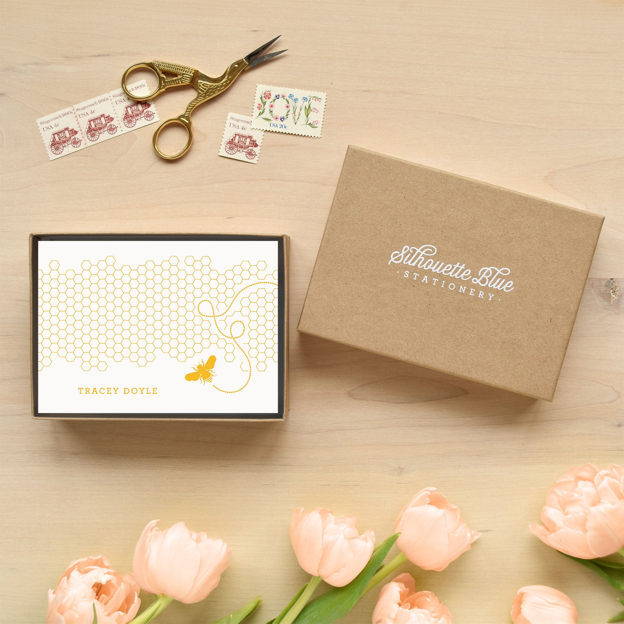 Honey Personalized Stationery