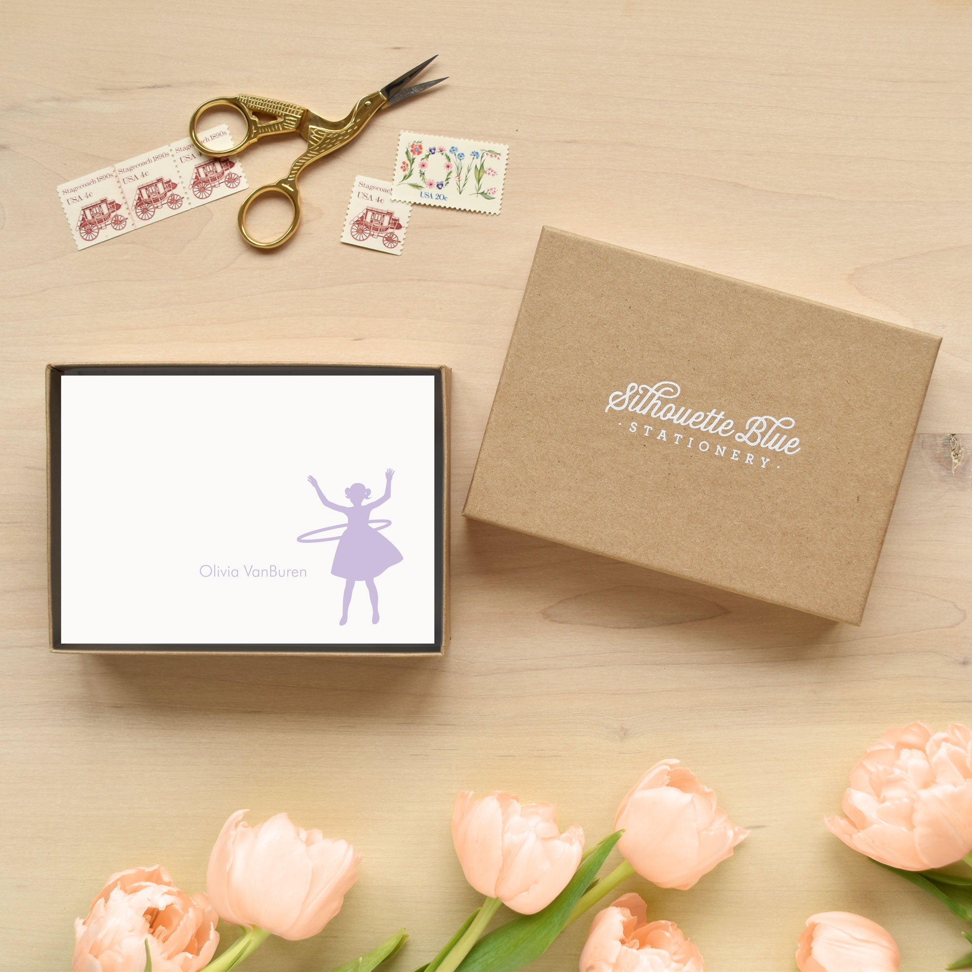Hula Hoop Personalized Stationery