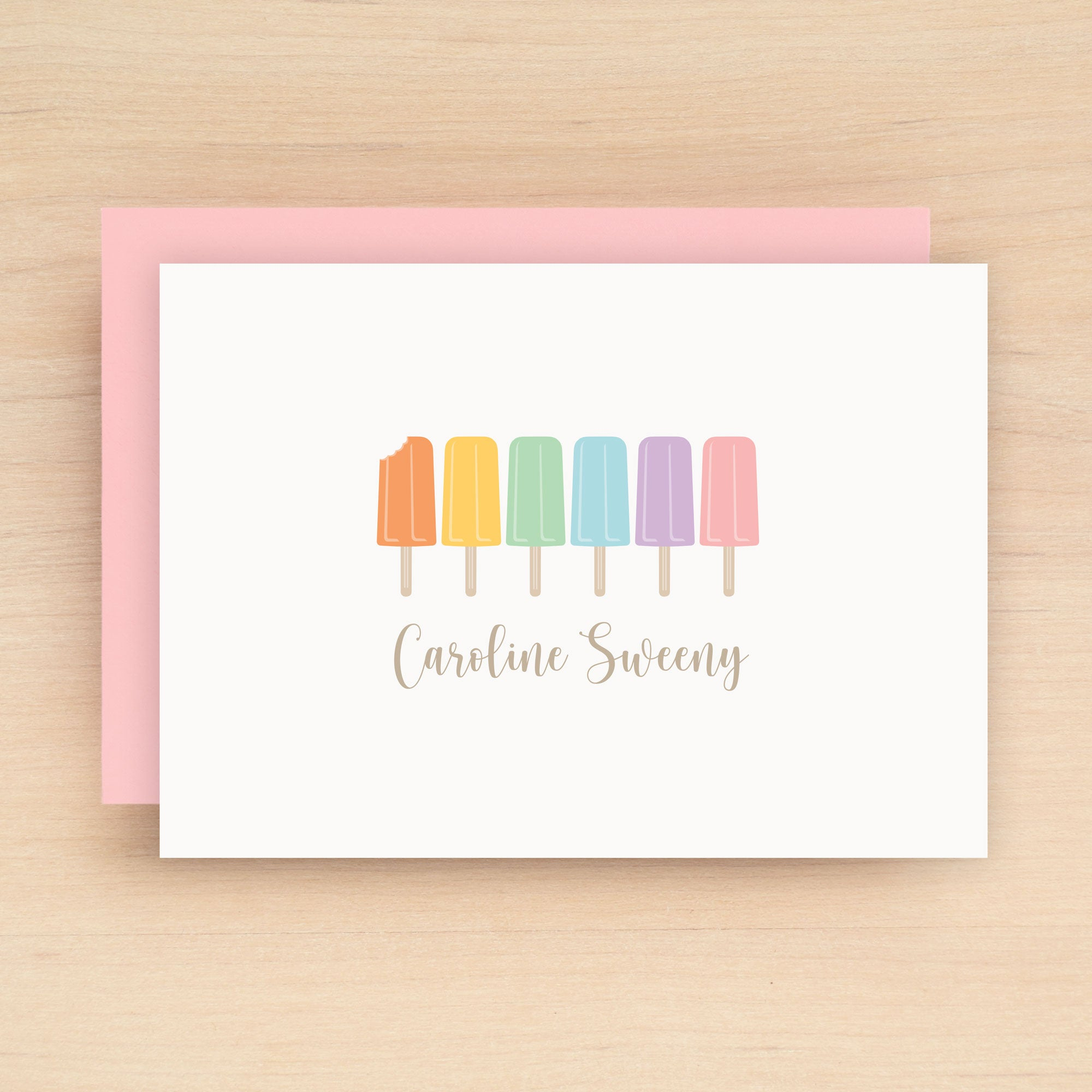 Ice Pop Personalized Stationery