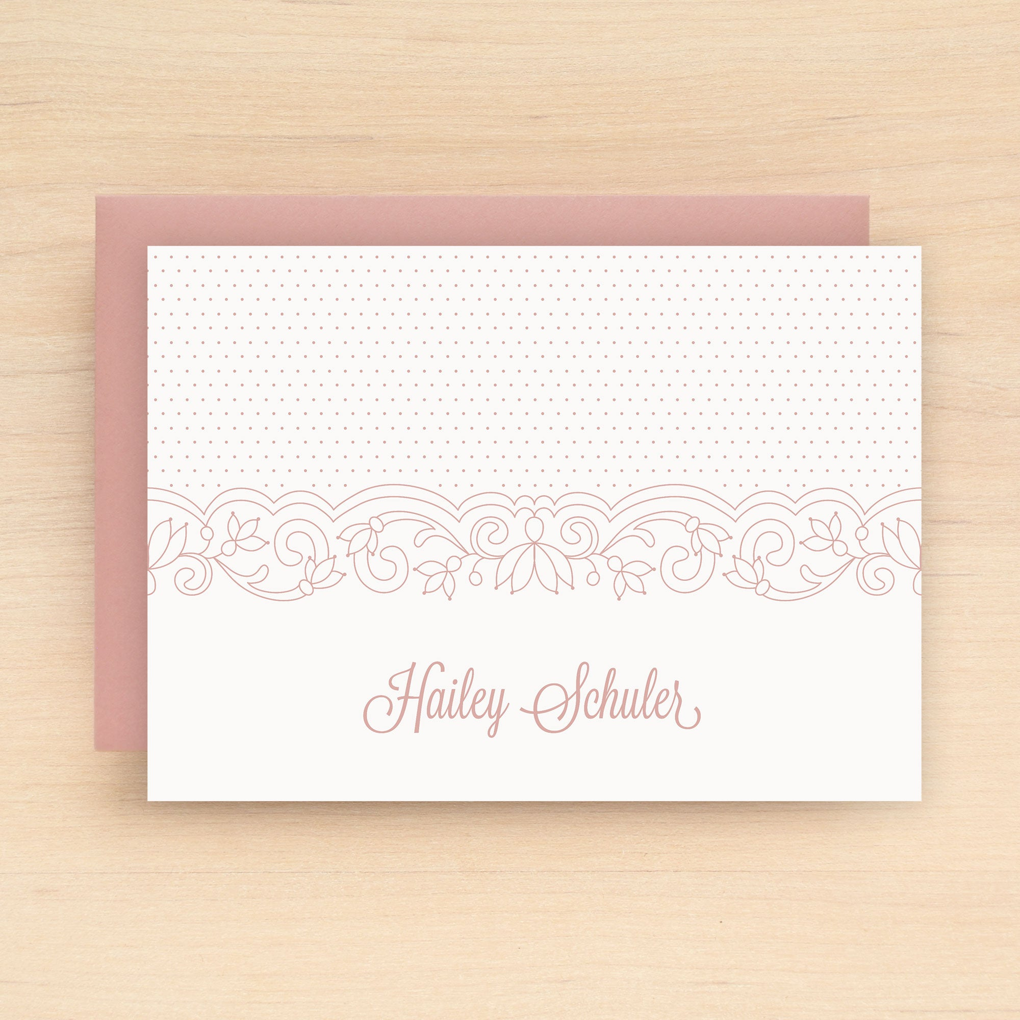 Lace Personalized Stationery