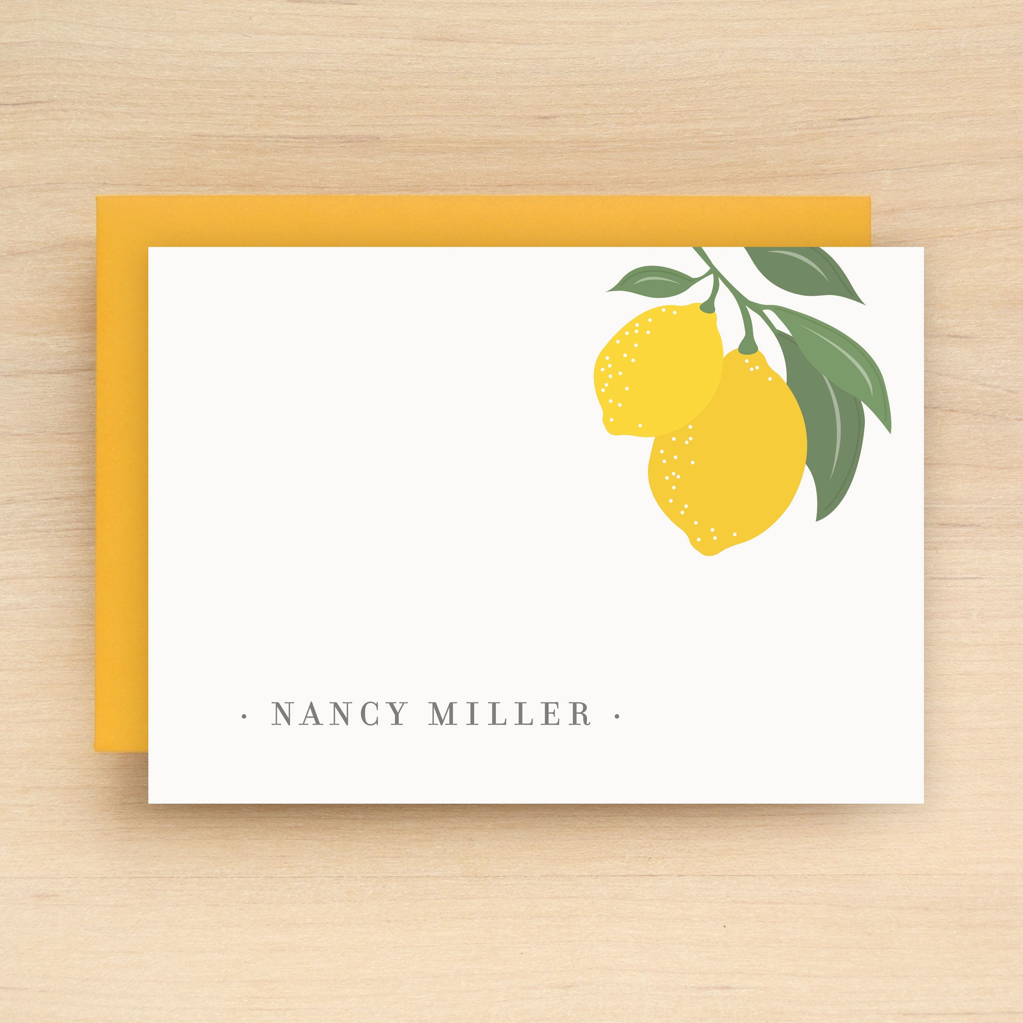 Limone Personalized Stationery Set