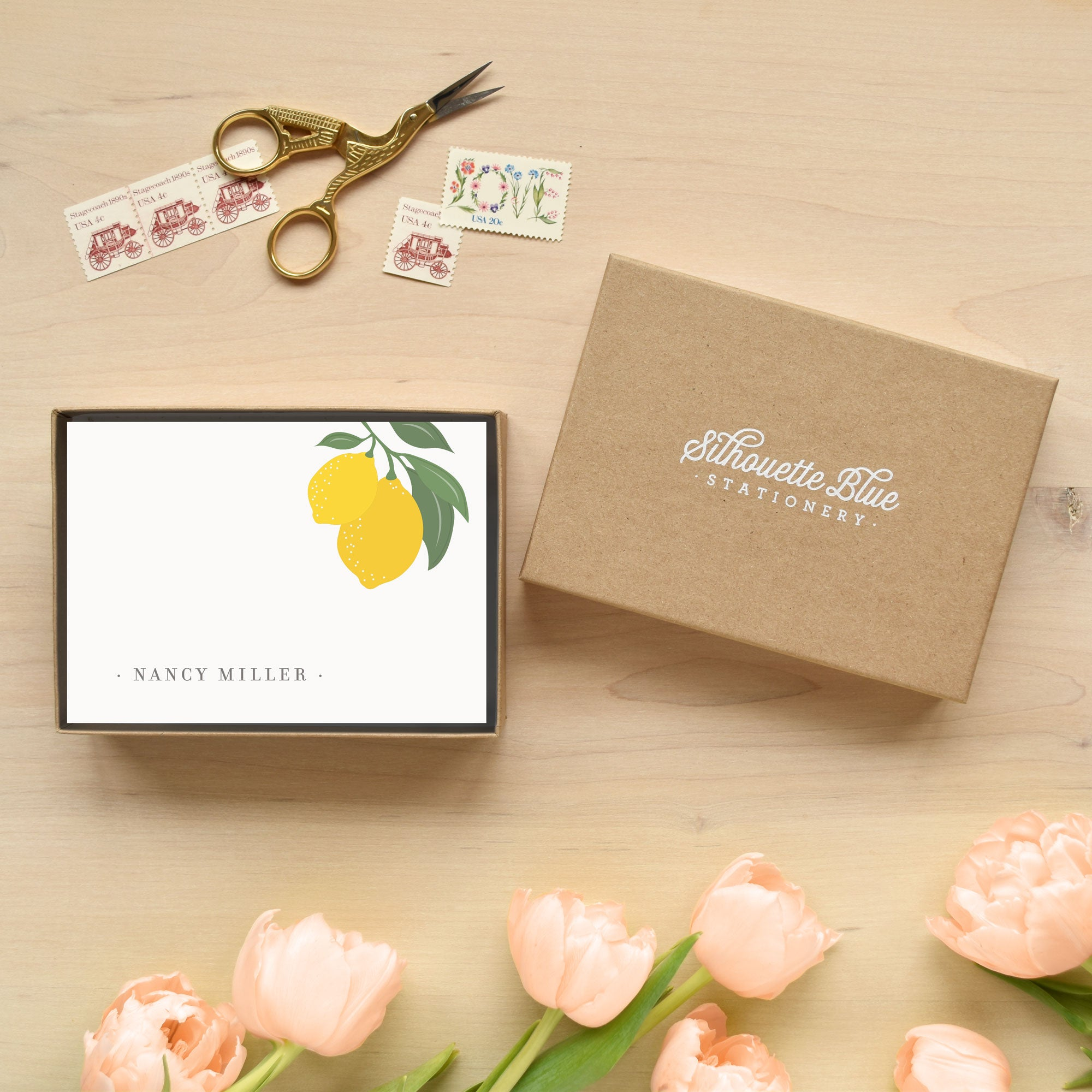 Limone Personalized Stationery