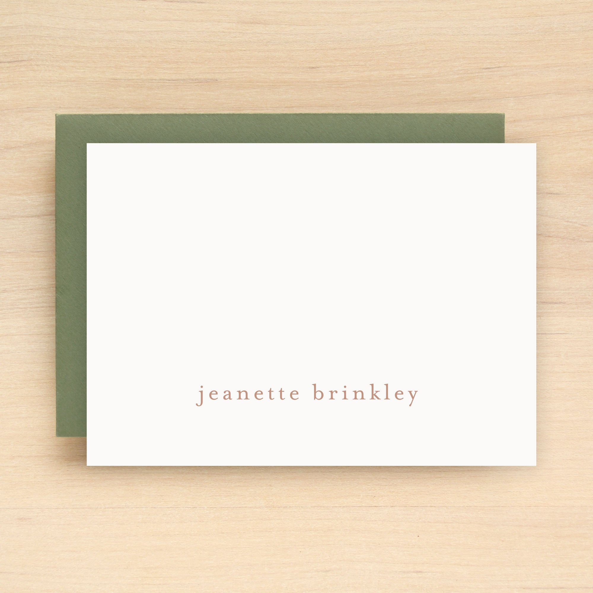 Lowercase Personalized Stationery Set