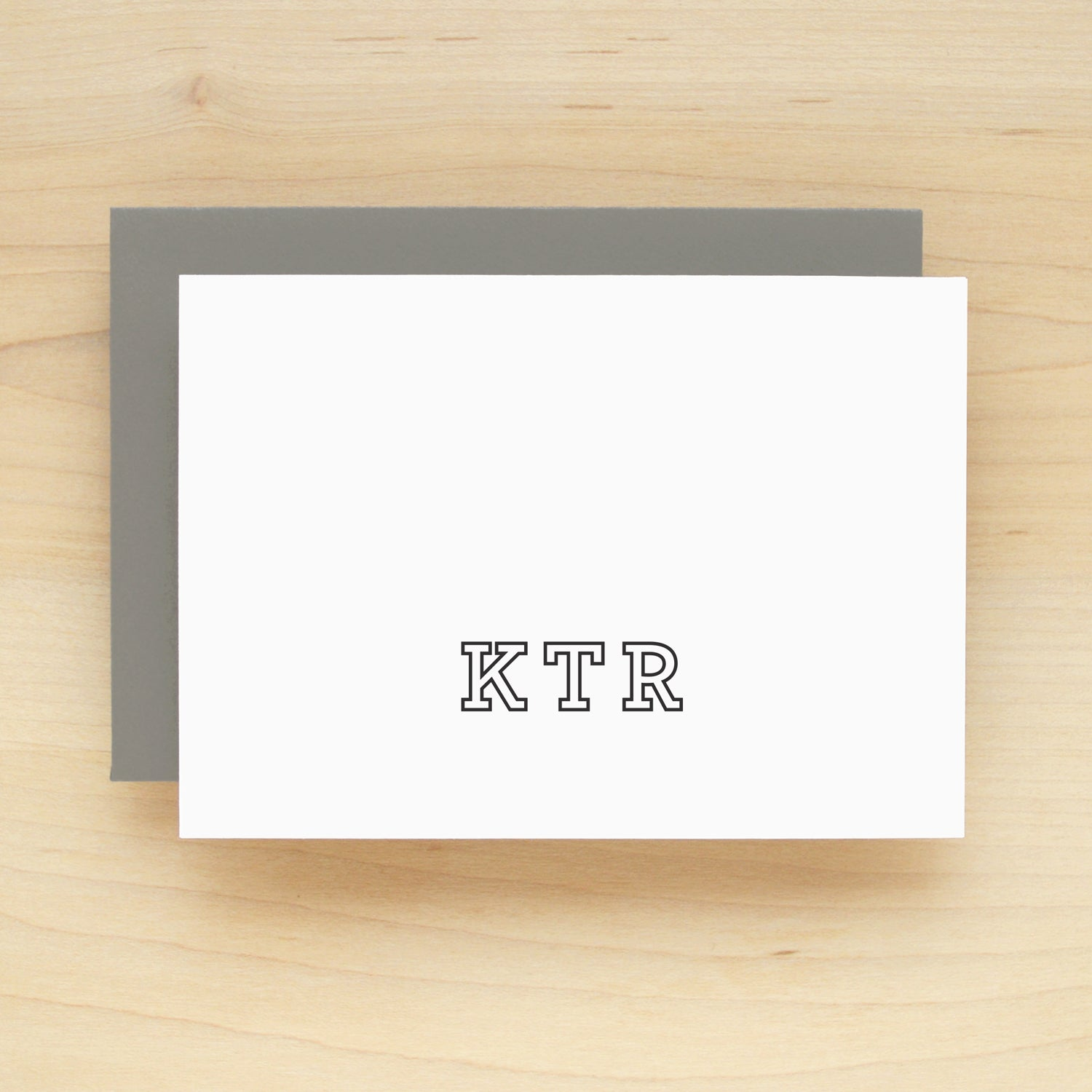 Margin Personalized Stationery