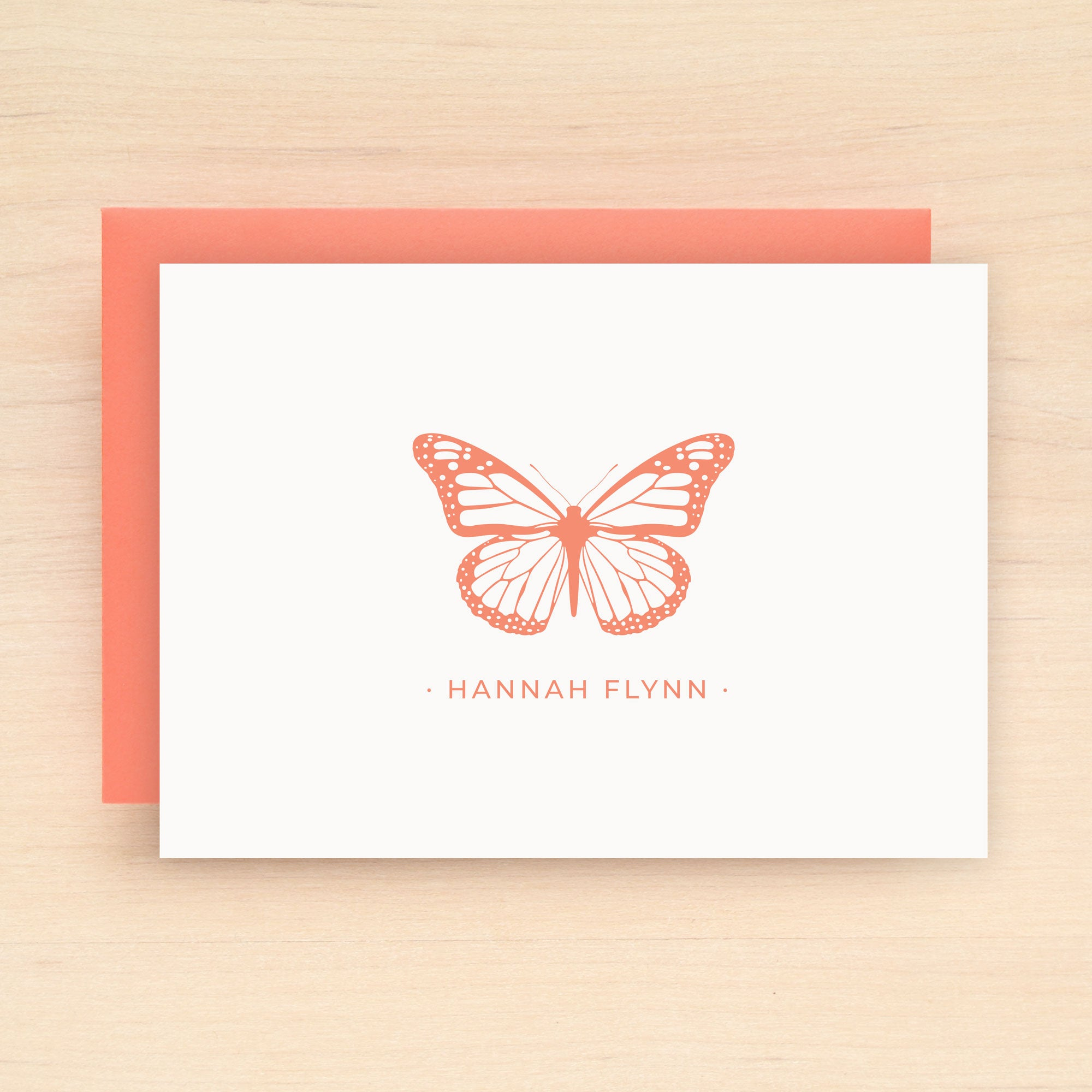Monarch Personalized Stationery