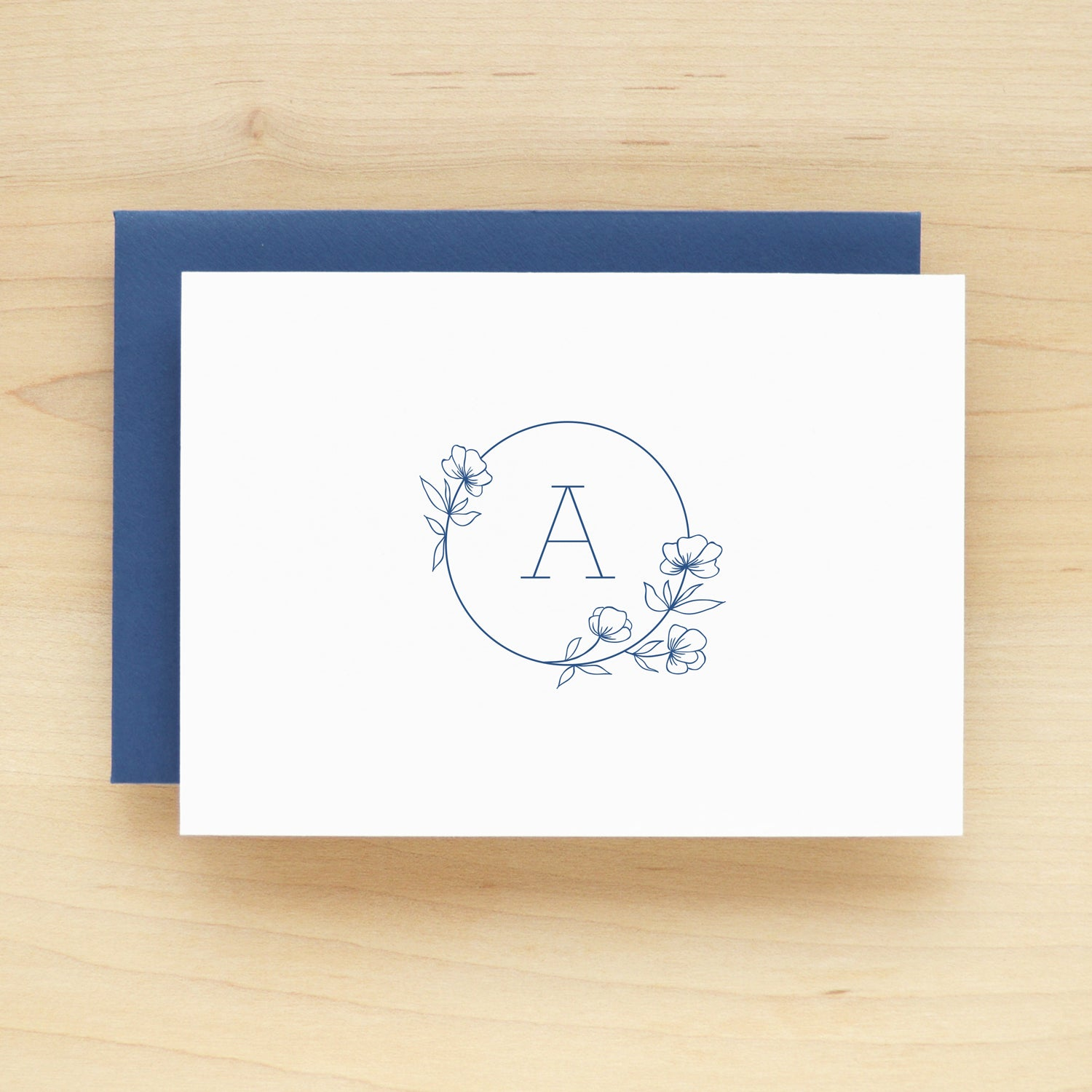Poppy Outline Personalized Stationery