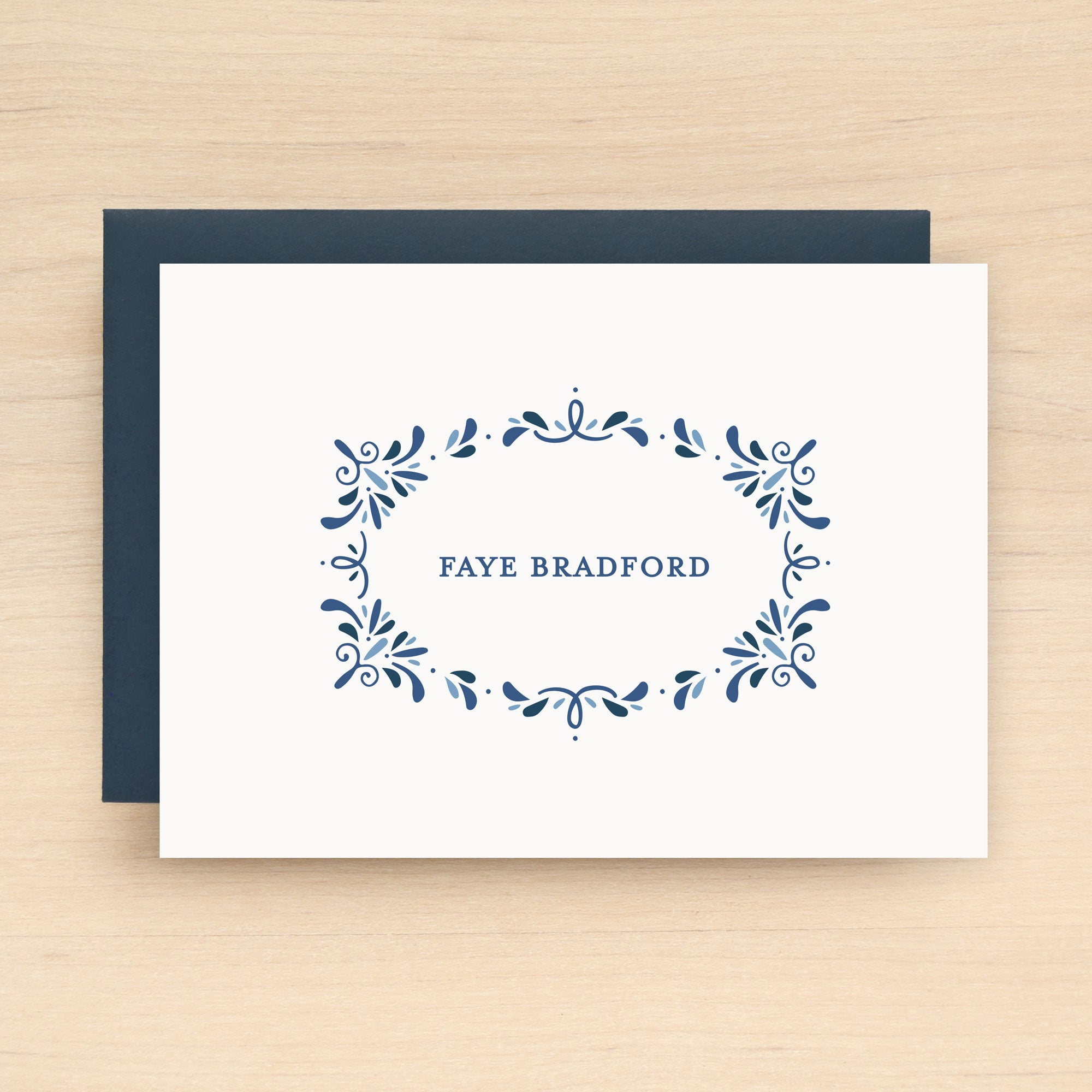 Porcelain Personalized Stationery