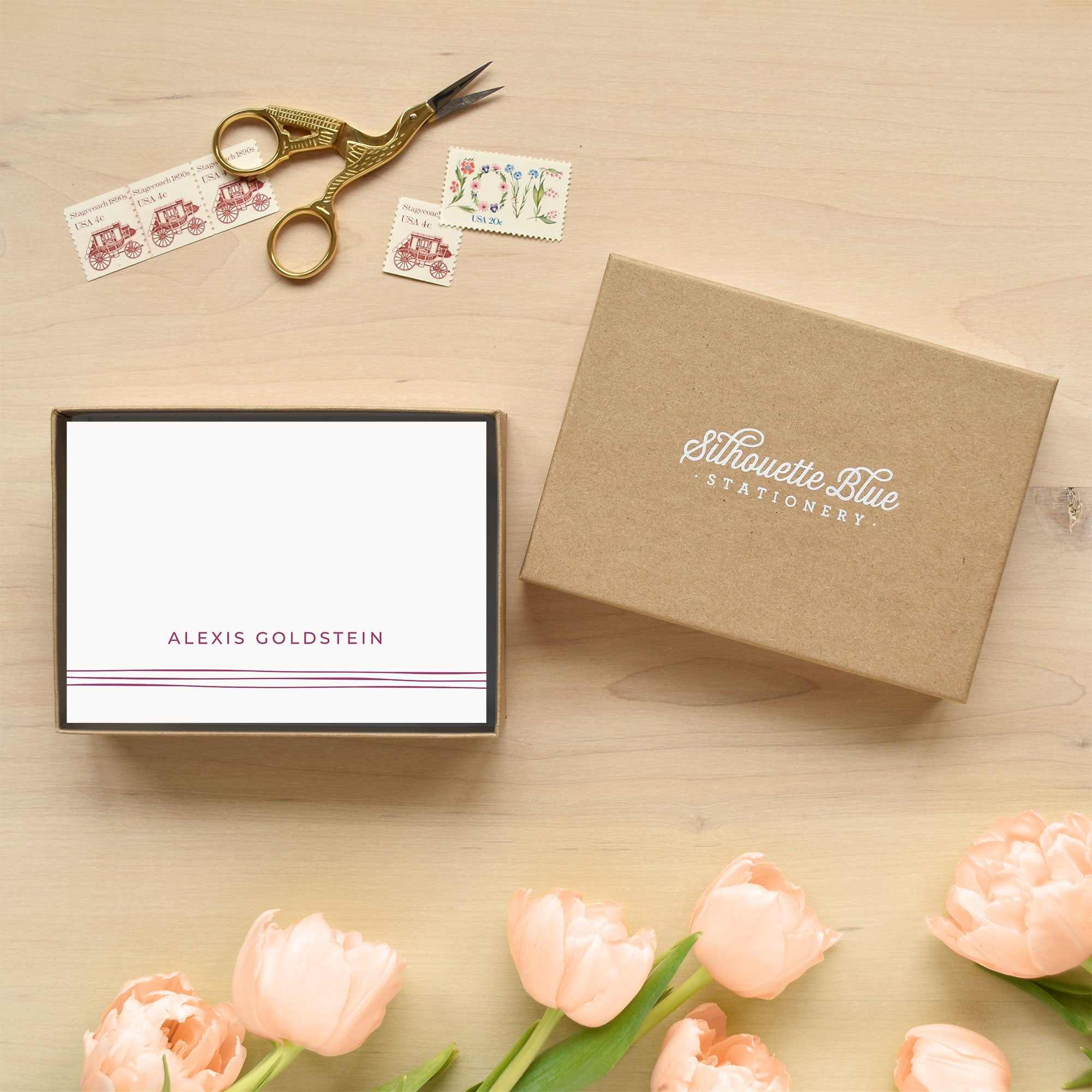 Ribbon Personalized Stationery