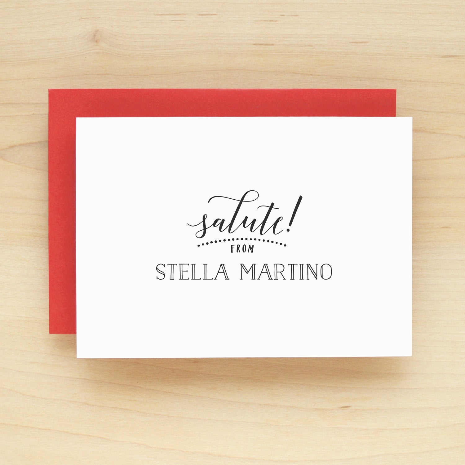 Salute Personalized Stationery