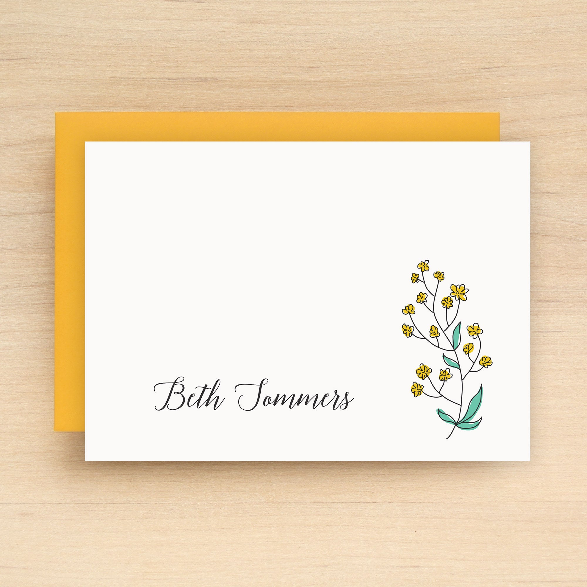 Spring Personalized Stationery Set