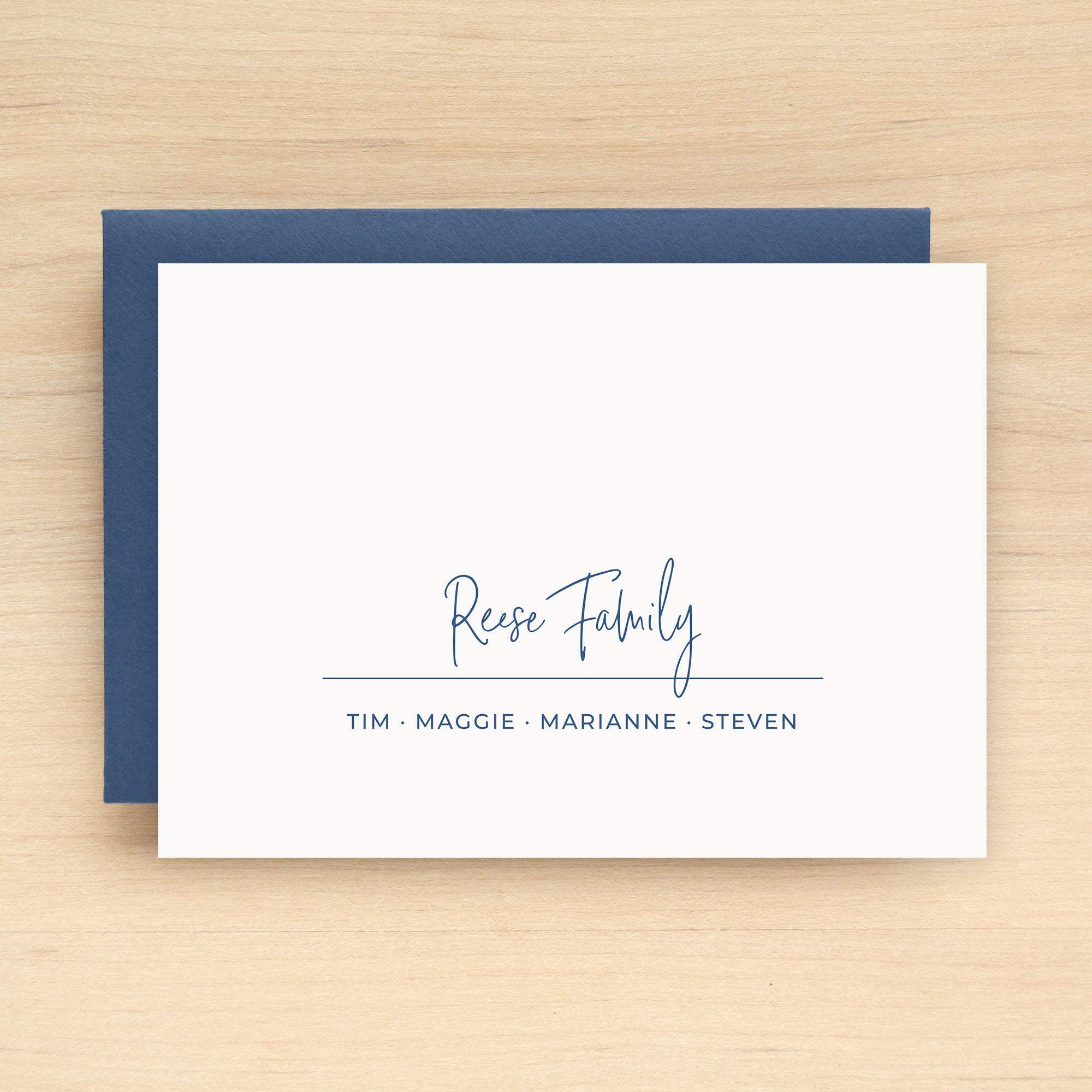 Suite Family Personalized Stationery Set