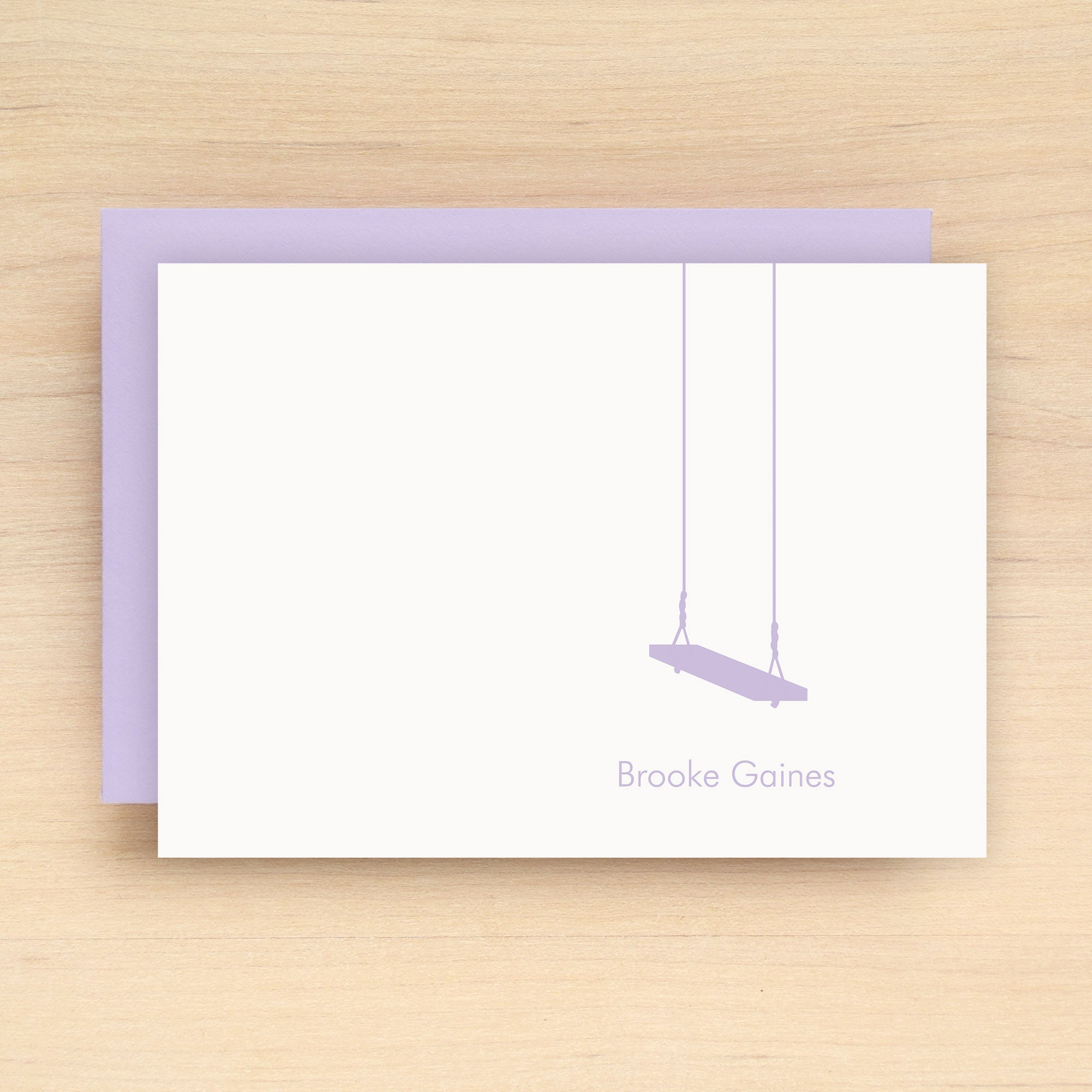 Swing Personalized Stationery