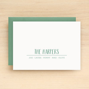 Troop Family Personalized Stationery
