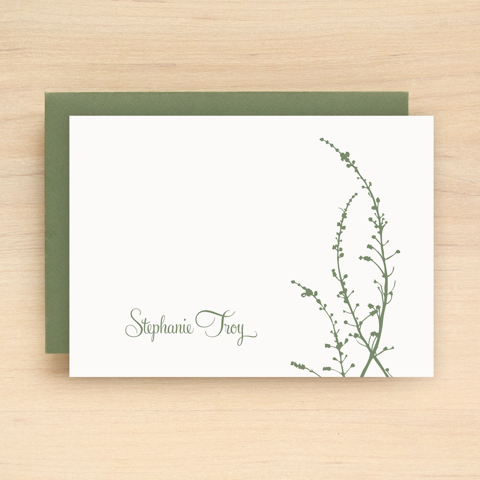 Vine Personalized Stationery