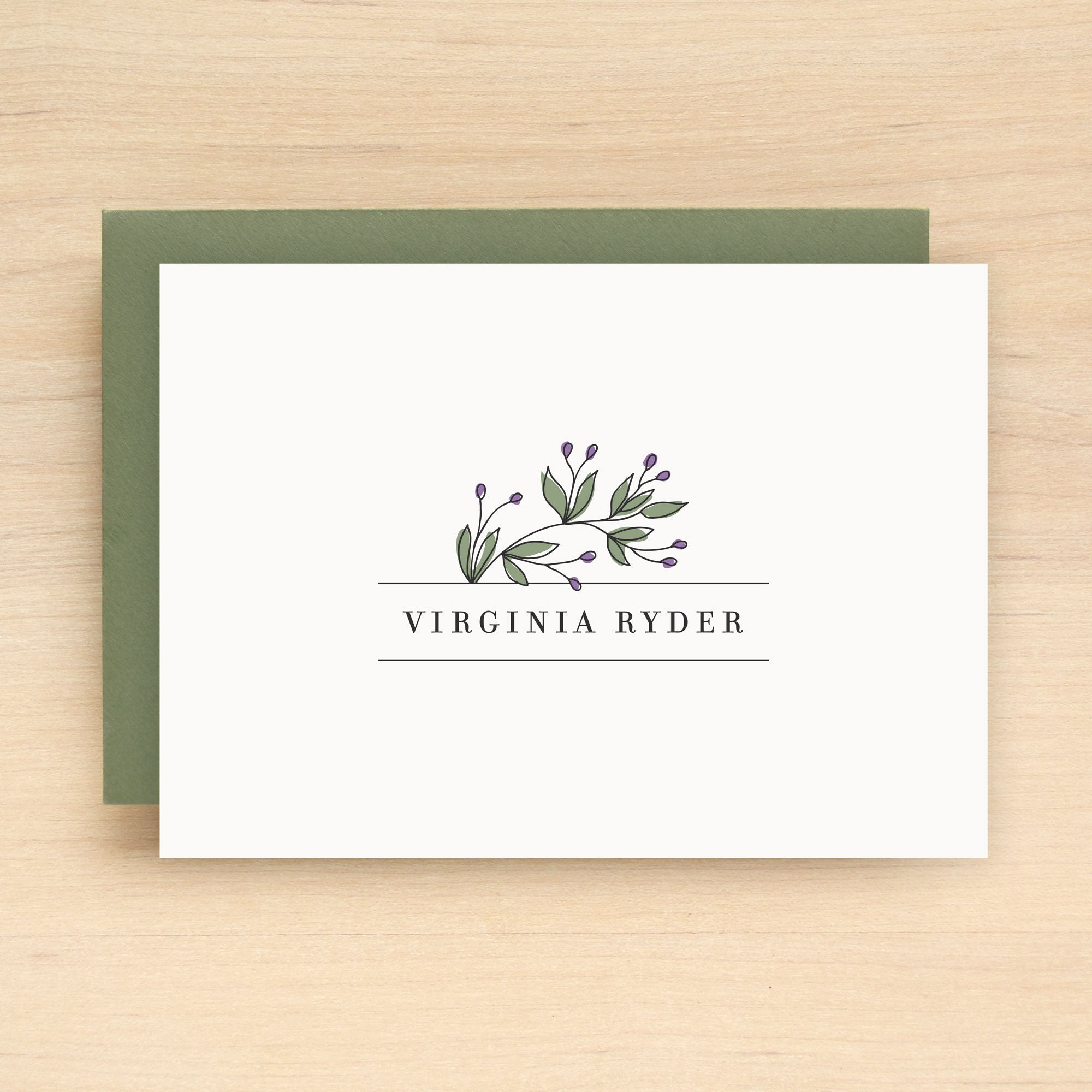 Vineyard Personalized Stationery Set