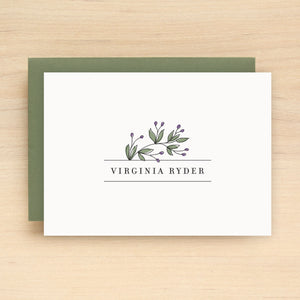 Vineyard Personalized Stationery