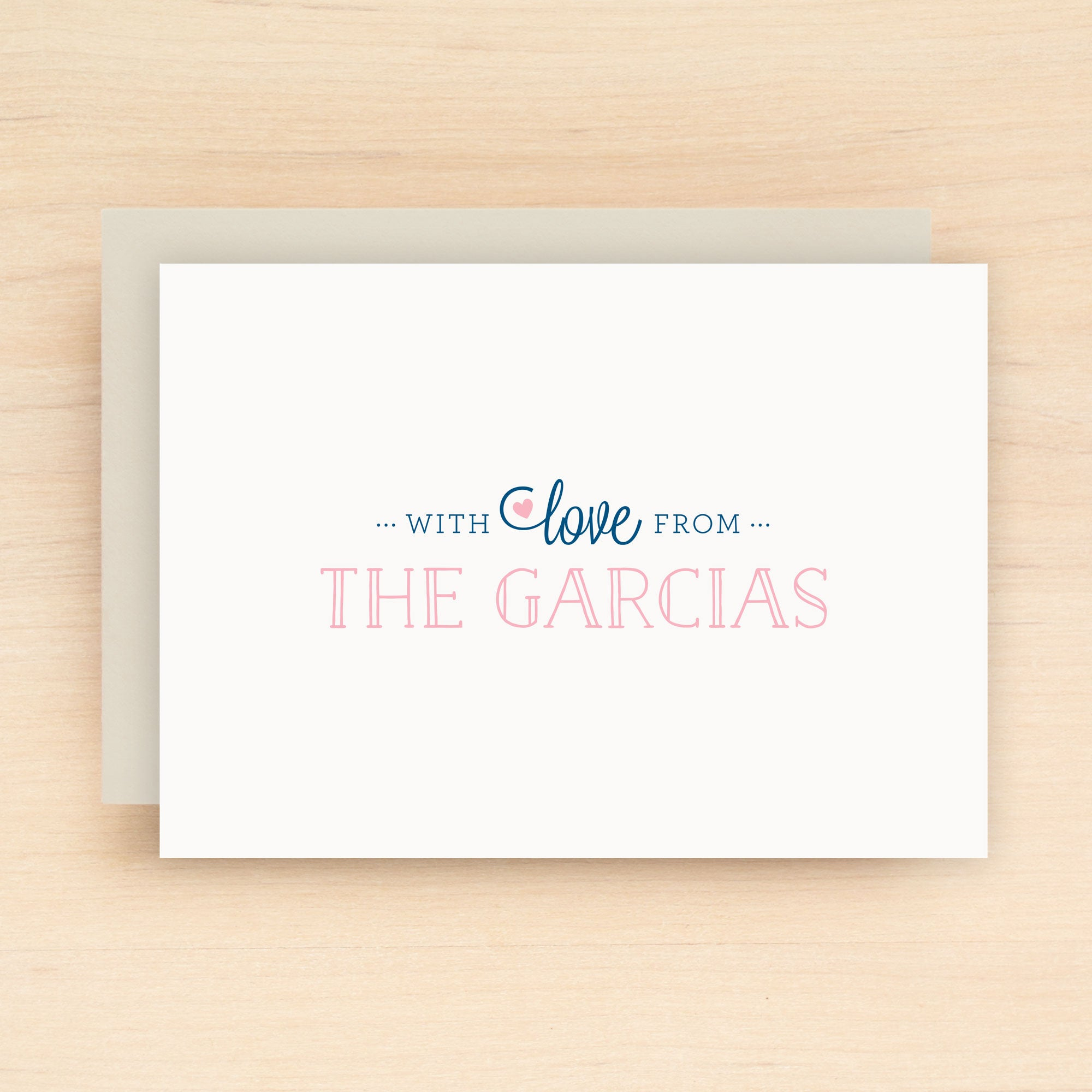 With Love Personalized Stationery Set
