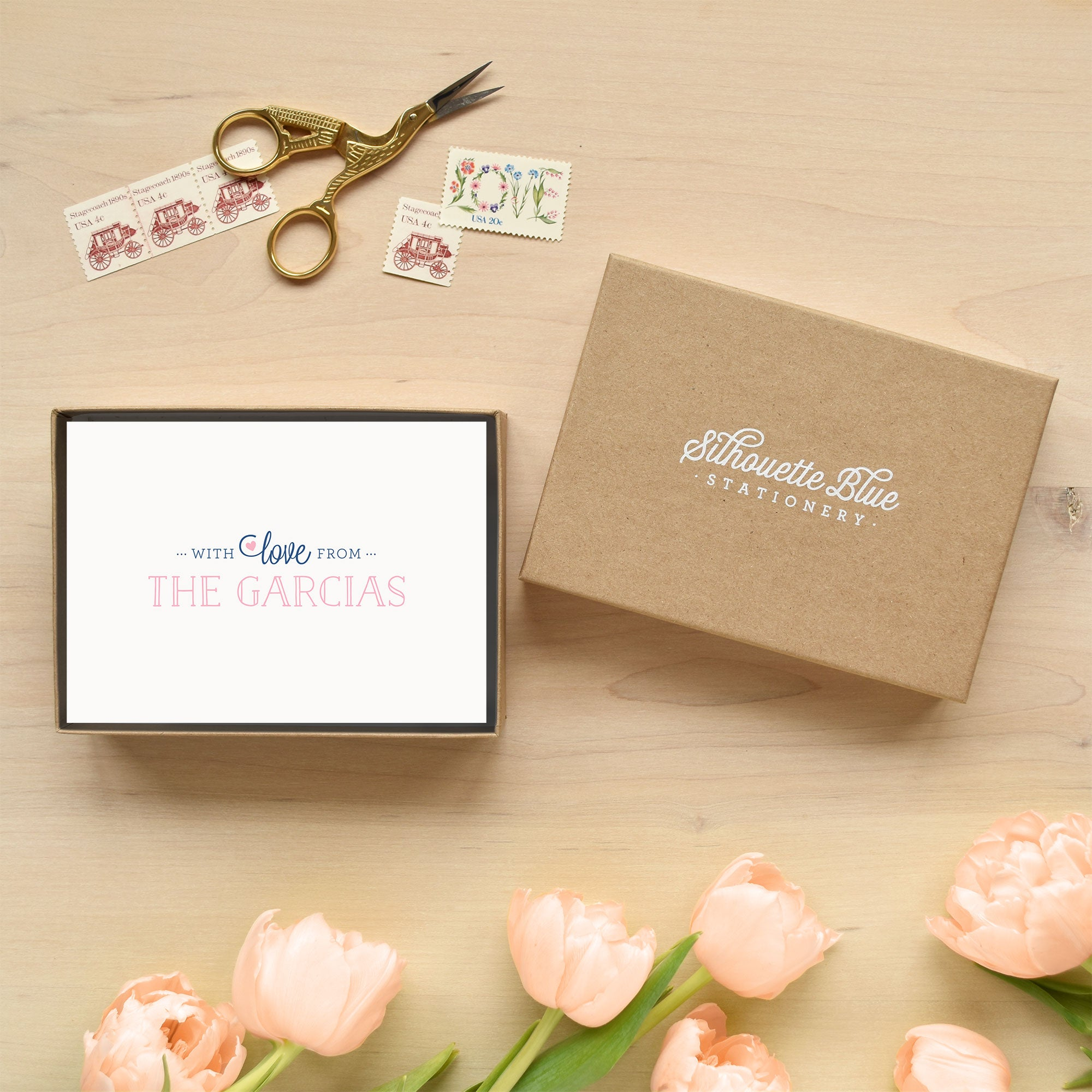 With Love Personalized Stationery