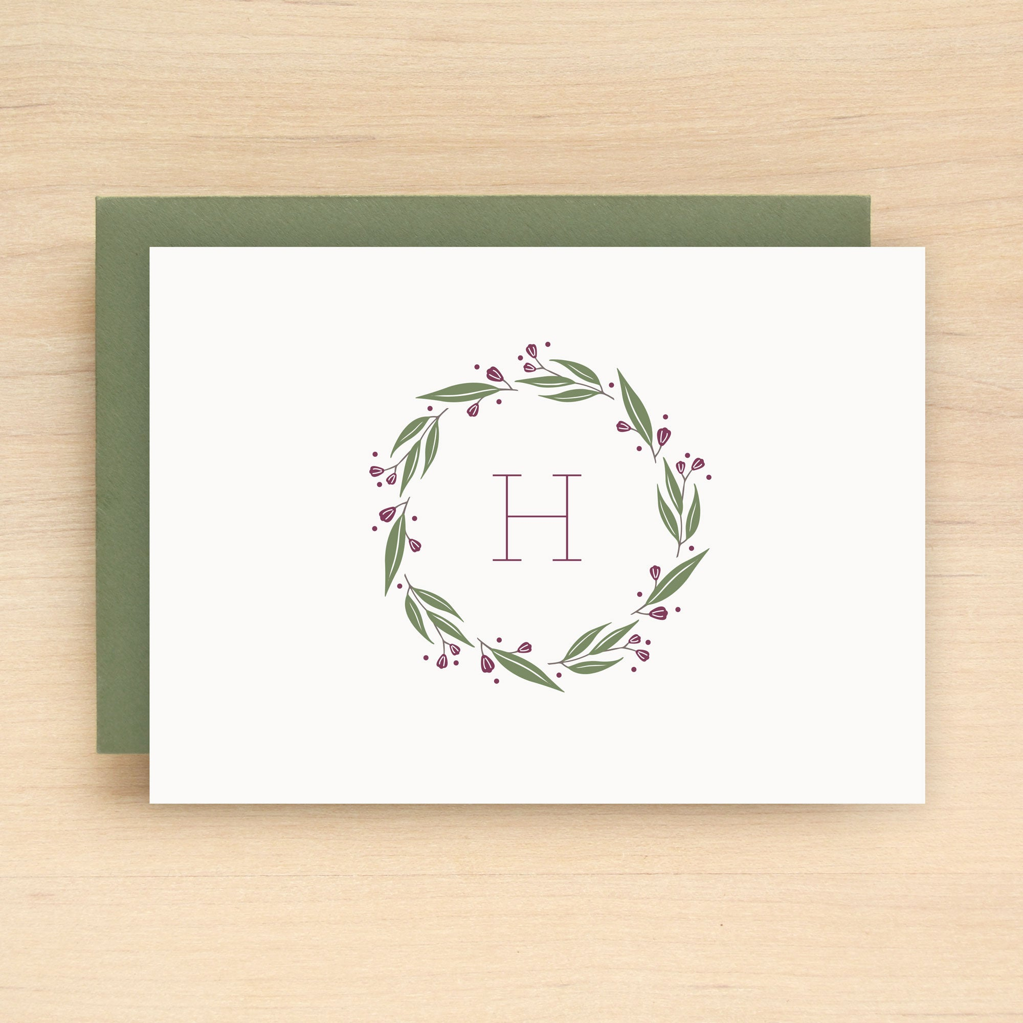 Wreath Personalized Stationery Set