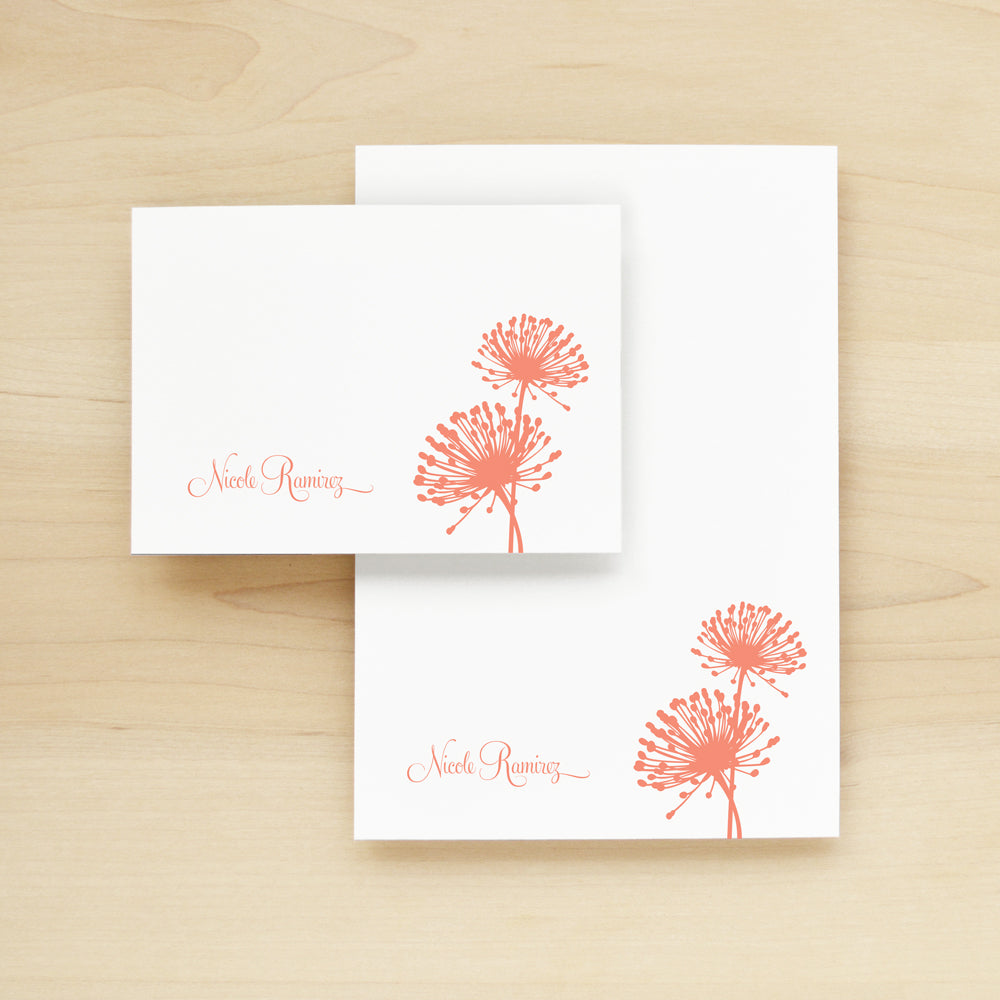 Bloom Personalized Stationery and Notepad Bundle