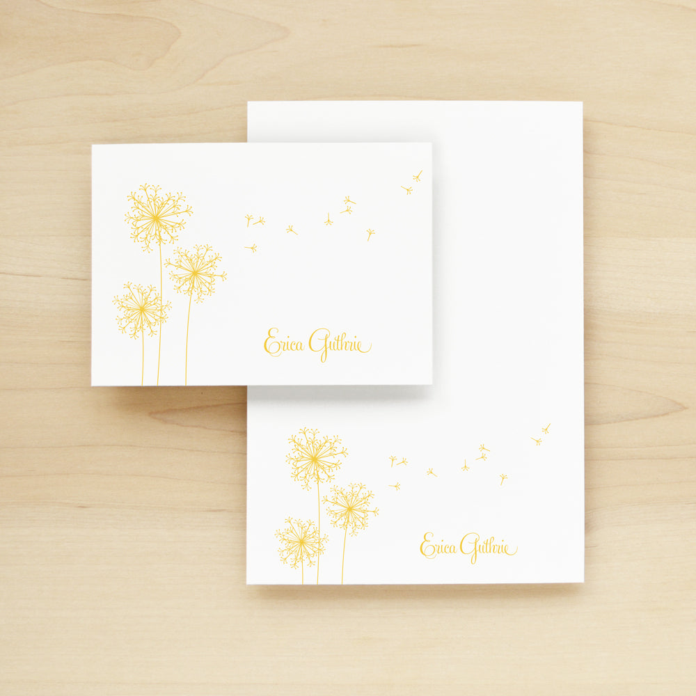 Breeze Personalized Stationery and Notepad Bundle