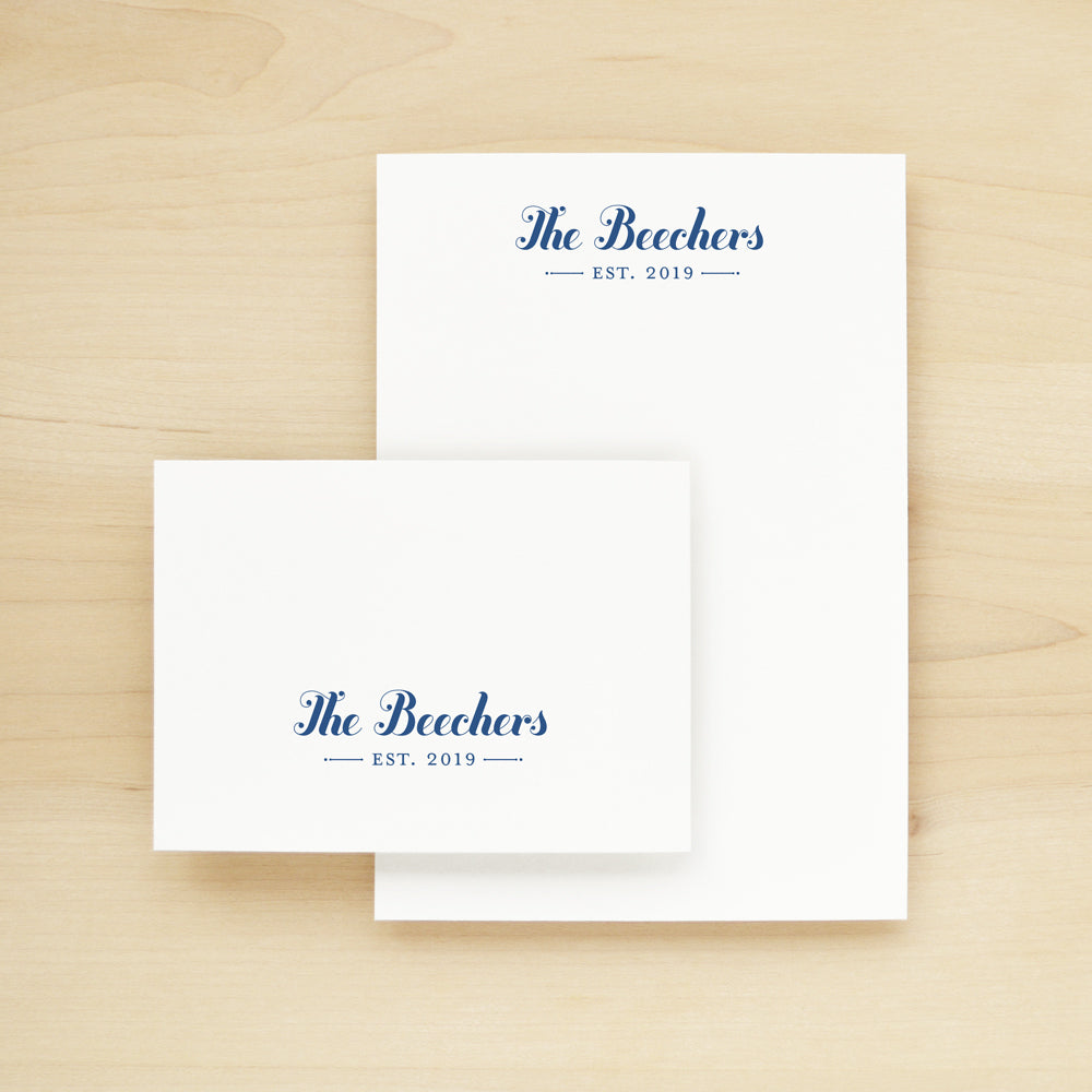 Established Personalized Stationery and Notepad Bundle