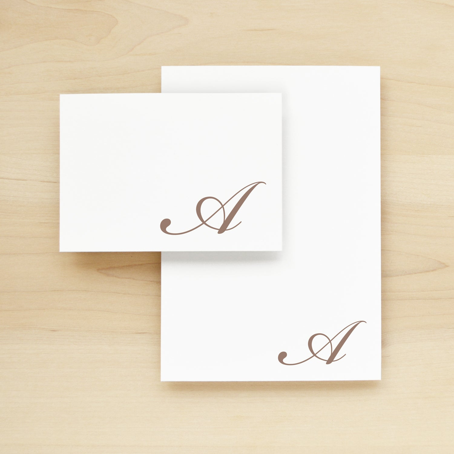 Flourish Personalized Stationery + Notepad Bundle