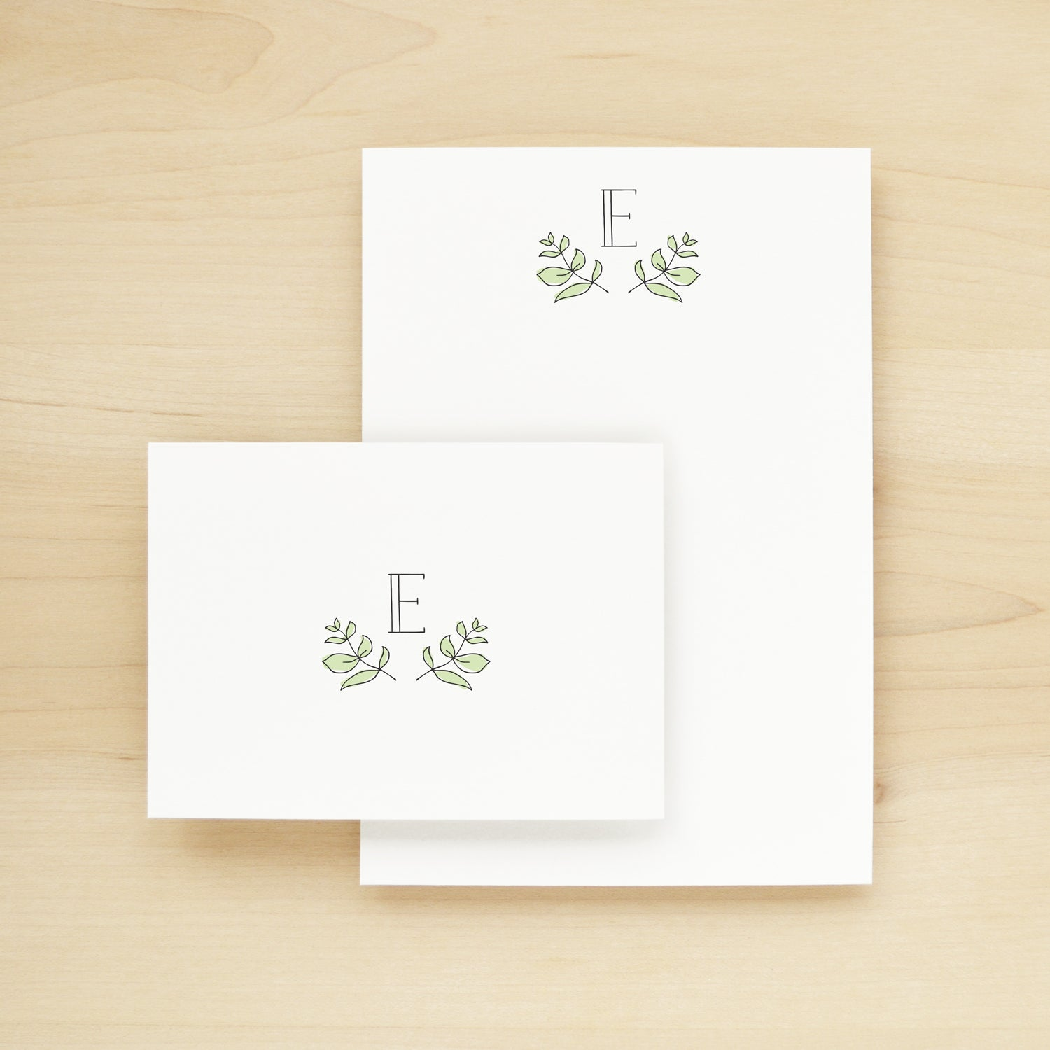 Garden Personalized Stationery + Notepad Bundle
