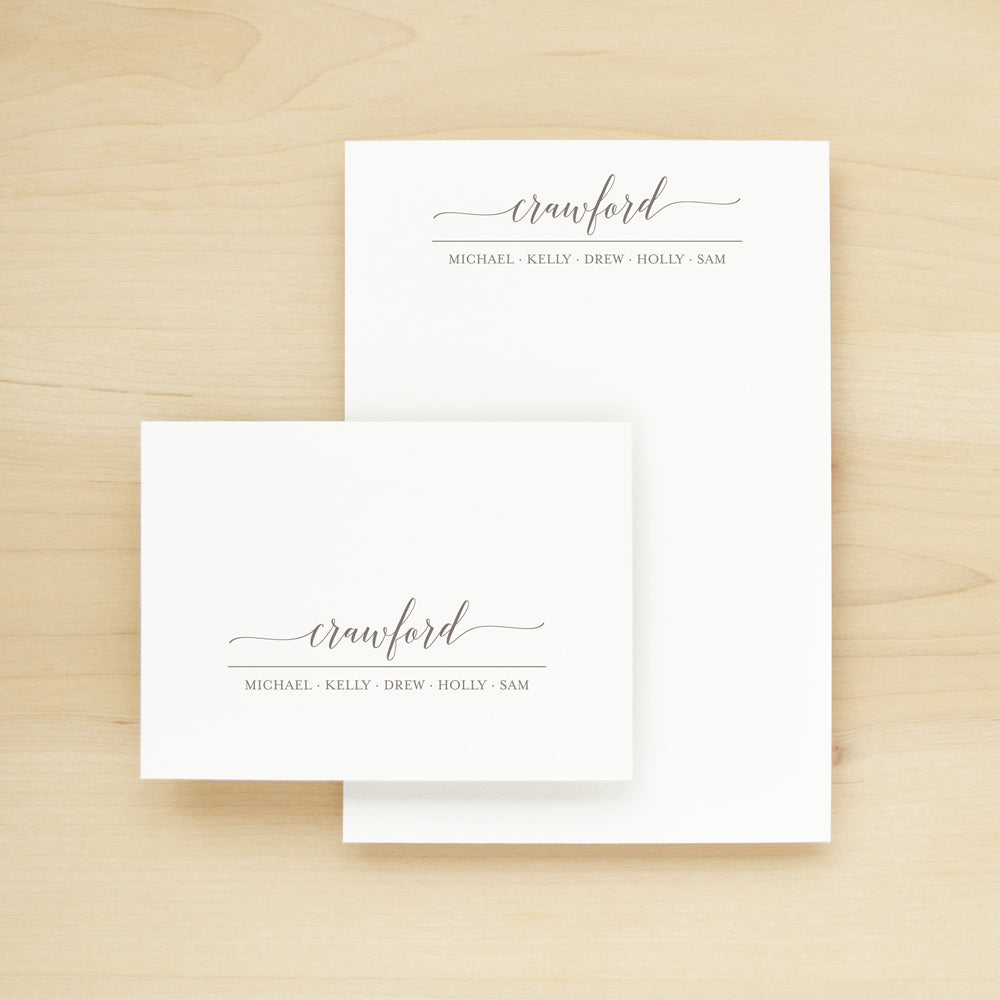 Guild Personalized Stationery and Notepad Bundle
