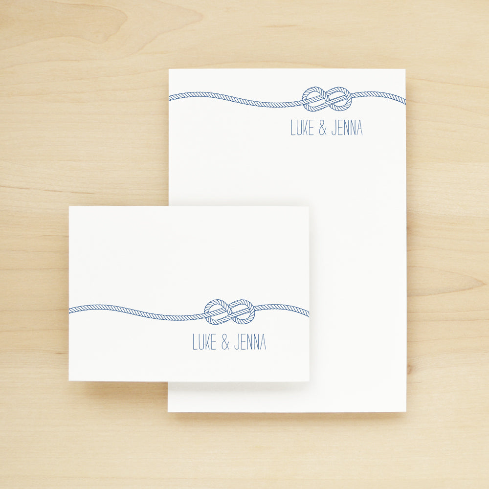 Knot Personalized Stationery and Notepad Bundle