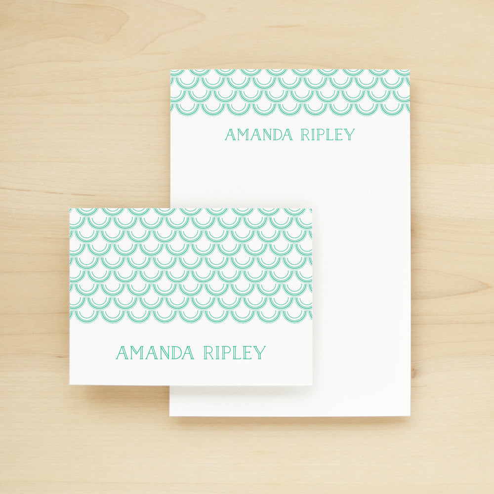 Mermaid Personalized Stationery and Notepad Bundle