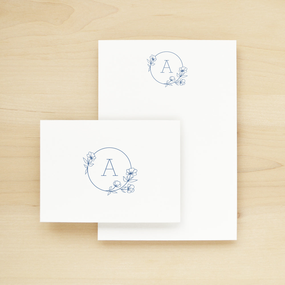 Poppy Outline Stationery + Notepad Bundle