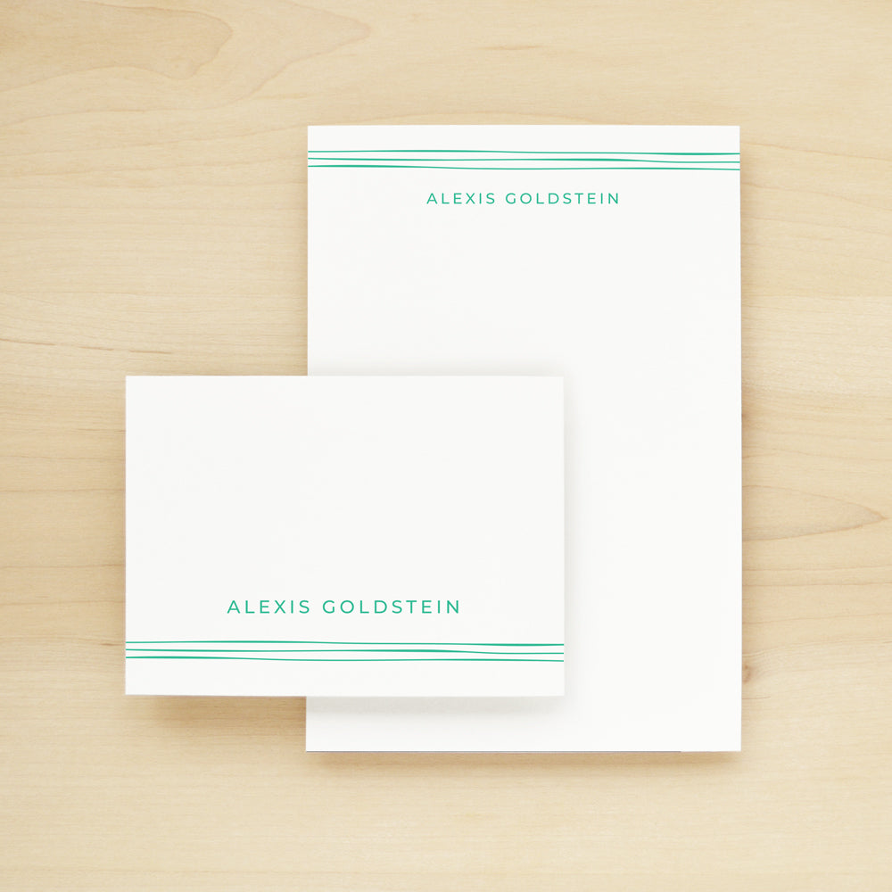 Ribbon Stationary + Notepad Bundle