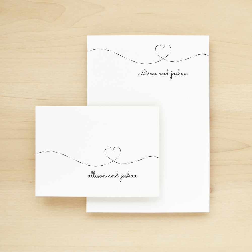 Smitten Personalized Stationery and Notepad Bundle