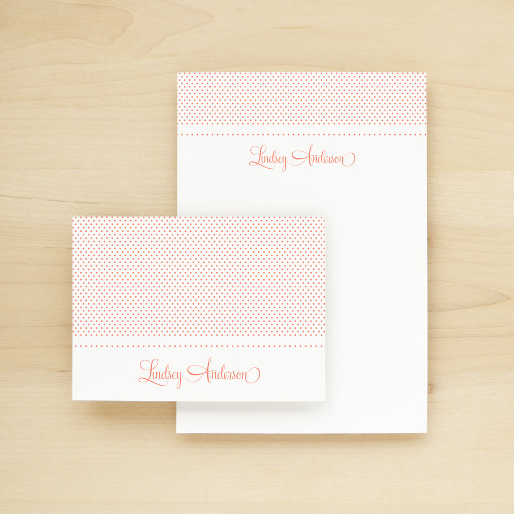 Sweetheart Personalized Stationery and Notepad Bundle