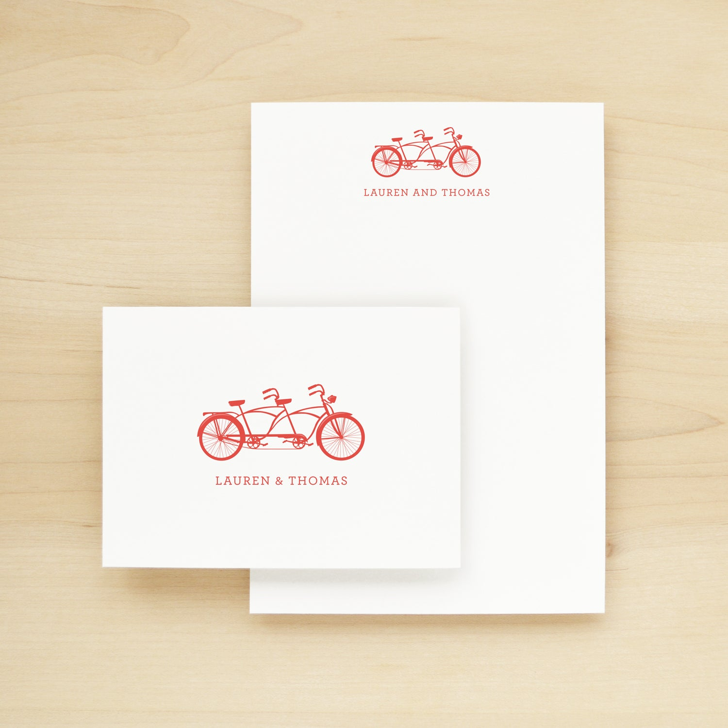 Tandem Personalized Stationery + Notepad Bundle