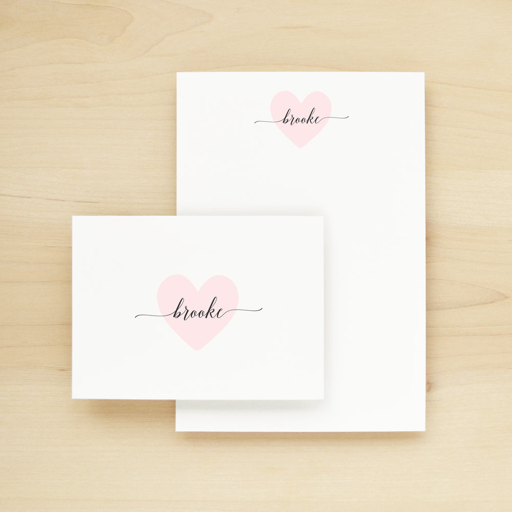 Valentine Stationery + Notepad Bundle