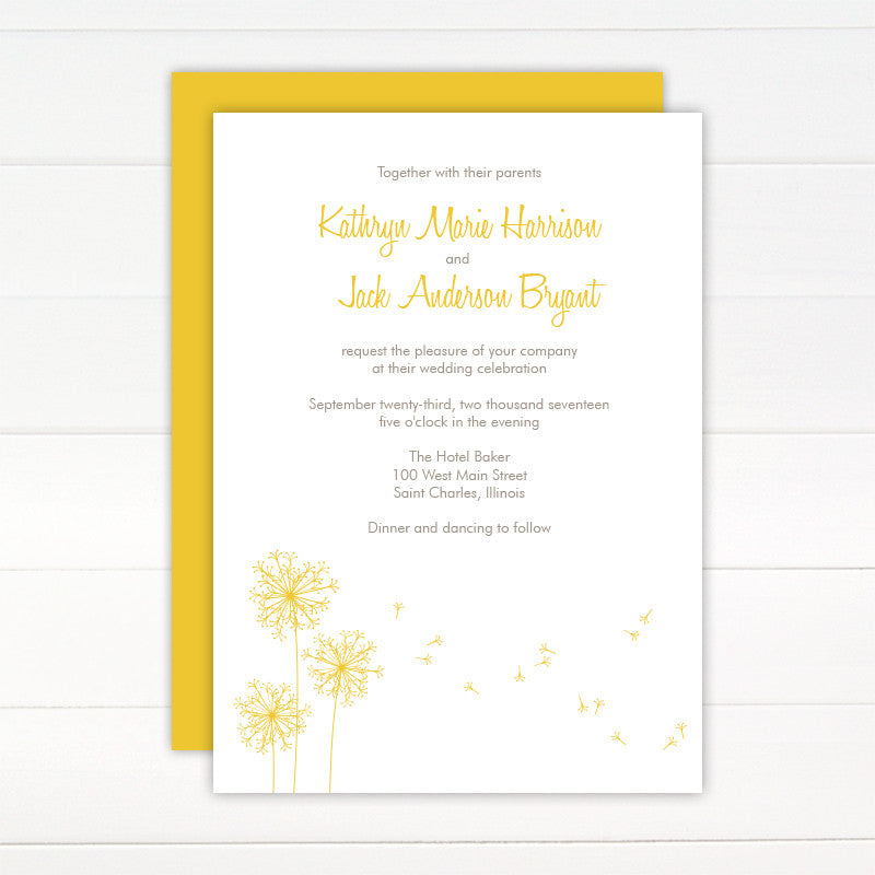 Breeze Wedding Invitation